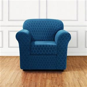 Sure Fit Grand Marrakesh Chair Cover - 48-in x 37-in - Nile Blue