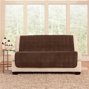 Sure Fit Deluxe Pet Cover for Loveseat - 73-in x 37-in - Chocolate