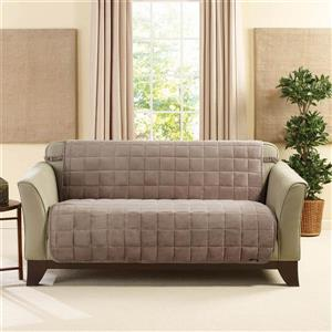 Sure Fit Deluxe Pet Loveseat Cover - 73-in x 37-in - Sable