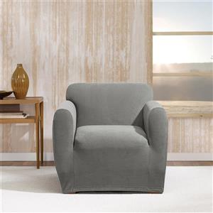 Sure Fit Stretch Morgan Chair Cover - 48-in x 37-in - Grey