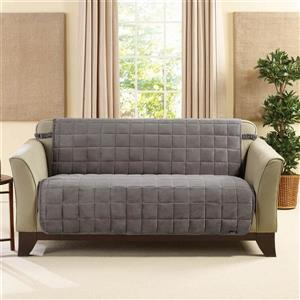Sure Fit Deluxe Pet Cover for Loveseat - 73-in x 37-in - Dark Grey