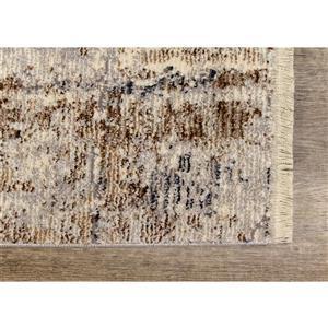 Kalora Evora Rug - Faded Squares - 5.25-ft x 7.58-ft - Grey