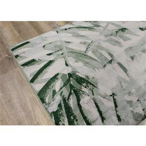 Kalora Antika Rug - Palm Leaf - 5.58-ft x 7.8-ft - Grey