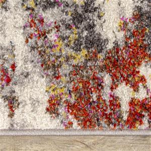 Kalora Saffron Rug - Abstract Pattern - 5.25-ft x 7.58-ft - Grey