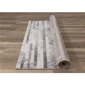 Kalora Intrigue Rug - Shaded Stripes - 7.8-ft x 10.83-ft - Cream