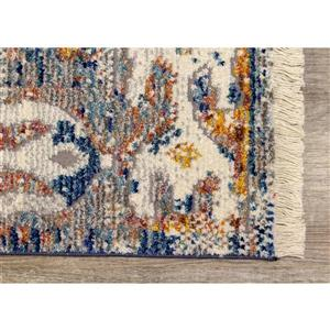 Kalora Evora Rug - Faded Traditional Pattern - 2.58-ft x 4.9-ft - Grey
