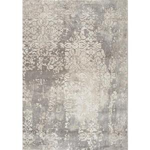 Kalora Alida Rug - Faded Etching Pattern - 8-ft x 10.5-ft - Grey