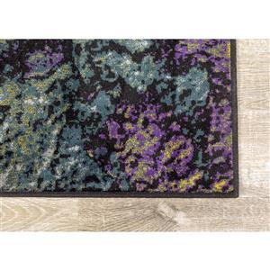 Kalora Antika Rug - Abstract Pattern - 5.58-ft x 7.8-ft - Grey