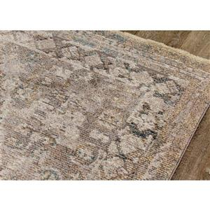 Kalora Evora Rug - Intricate Traditional Pattern - 2.58-ft x 7.8-ft - Grey