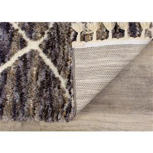 Kalora Colorado Rug - Abstract Latticework Pattern - 5.25-ft x 7.58-ft - Grey