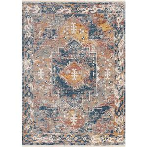 Kalora Evora Rug - Faded Traditional Pattern - 2.58-ft x 7.8-ft - Grey