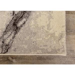 Kalora Safi Rug - Marble Pattern - 7.8-ft x 10.83-ft - Cream