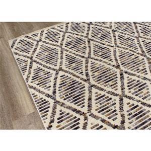 Kalora Nepal Rug - Latticework Pattern - 7.8-ft x 10.5-ft - Cream