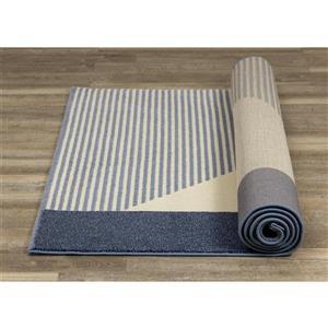 Kalora Safi Rug - Blocks and Stripes - 7.8-ft x 10.83-ft - Blue