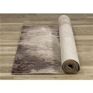 Kalora Parlour Rug - Abstract Smoky Pattern - 5.25-ft x 7.58-ft - Taupe