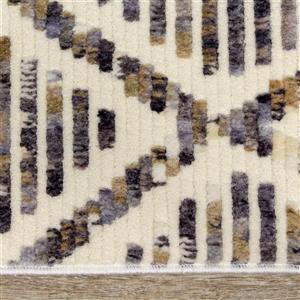 Kalora Nepal Rug - Latticework Pattern - 5.25-ft x 7.58-ft - Cream