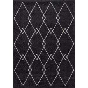 Kalora Sable Rug - Diamond Pattern - 5.25-ft x 7.58-ft - Grey