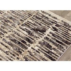 Kalora Nepal Rug - Banded Rows - 2.58-ft x 4.9-ft - Beige