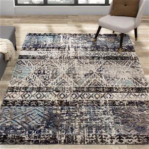 Kalora Sara Rug - Bohemian Pattern - 7.8-ft x 10.5-ft - Blue