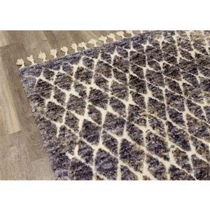 Kalora Colorado Rug - Latticework Pattern - 2.58-ft x 7.8-ft - Beige