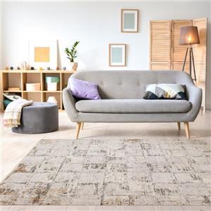 Kalora Evora Rug - Faded Squares - 7.8-ft x 10.5-ft - Grey