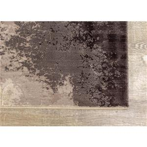 Kalora Parlour Rug - Abstract Smoky Pattern - 7.8-ft x 10.83-ft - Taupe