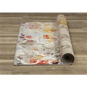 Kalora Saffron Rug - Ogee Pattern - 7.8-ft x 10.5-ft - Grey