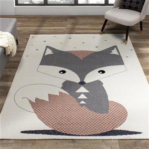 Kalora Kalora Kids Rug - Fox - 5.25-ft x 7.58-ft - Cream