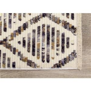 Kalora Nepal Rug - Latticework Pattern - 2.08-ft x 3.58-ft - Cream