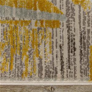 Kalora Harmony Rug - Odd Shapes - 5.25-ft x 7.58-ft - Grey