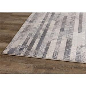 Kalora Intrigue Rug - Shaded Stripes - 5.25-ft x 7.58-ft - Cream