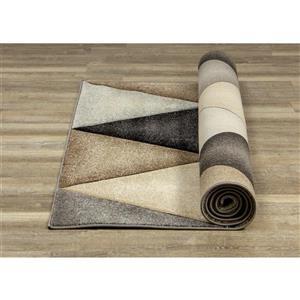 Kalora Freemont Rug - Triangles - 5.25-ft x 7.58-ft - Beige