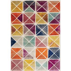 Kalora Brighton Rug - Triangles - 7.8-ft x 10.5-ft - Beige