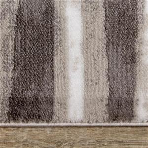 Kalora Platinum Rug - Three-Row Banding - 7.8-ft x 10.5-ft - Grey