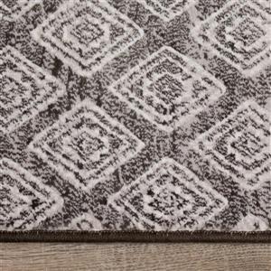 Kalora Intrigue Rug - Latticework Pattern - 5.25-ft x 7.58-ft - Grey