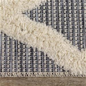 Kalora Neka Rug - Latticework Pattern - 5.25-ft x 7.58-ft - Grey