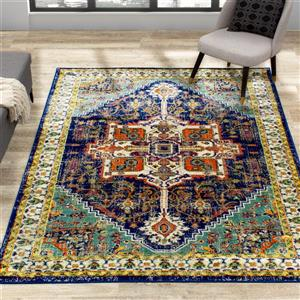 Kalora Brighton Rug - Traditional Pattern - 5.25-ft x 7.58-ft - Blue