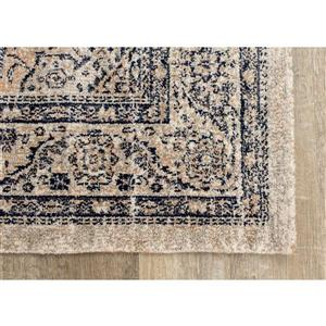 Kalora Mirage Rug - Elegant Traditional Pattern - 7.8-ft x 10.83-ft - Grey