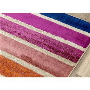 Kalora Brighton Rug - Rainbow - 7.8-ft x 10.5-ft - Pink
