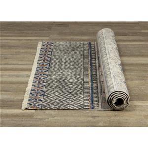 Kalora Evora Rug - Bohemian Pattern - 5.25-ft x 7.58-ft - Grey