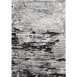 Kalora Montana Rug - Urban Pattern - 7.8-ft x 10.5-ft - Grey