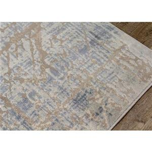Kalora Harmony Rug - Crosshatch Pattern - 7.8-ft x 10.5-ft - Grey