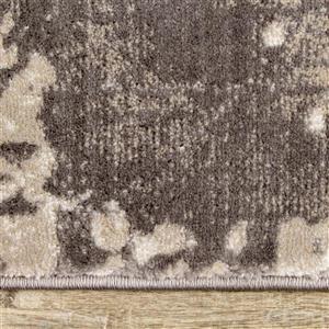 Kalora Alida Rug - Faded Etching Pattern - 5.08-ft x 7.58-ft - Grey