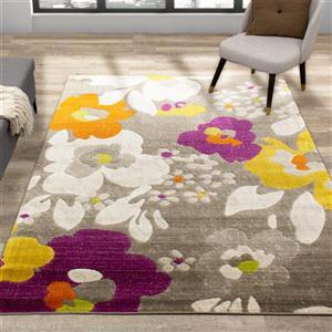 Kalora Brighton Rug - Floral Pattern - 7.8-ft x 10.5-ft - Beige