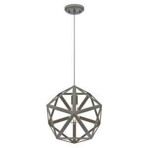 Westinghouse Lighting Canada Geometric Pendant Light - 1-Light - Matte Grey
