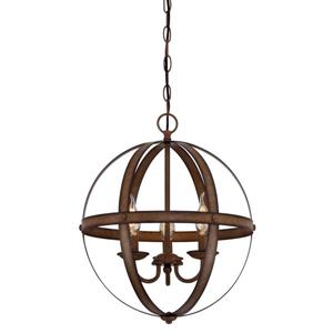 Westinghouse Lighting Canada Stella Mira Pendant Light - 3-Light - Oil Rubbed Bronze and Wood