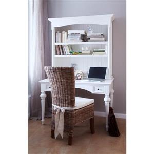 NovaSolo Provence Secretary Desk - White