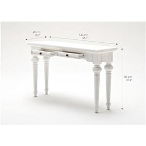 NovaSolo Provence Console Table - White