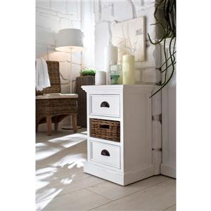 NovaSolo Halifax Bedside Storage Unit with basket