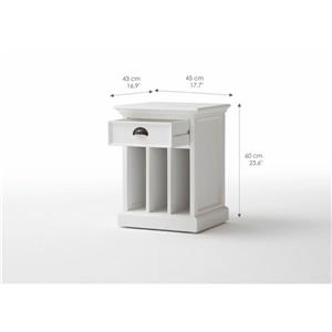 NovaSolo Halifax Bedside Table with dividers